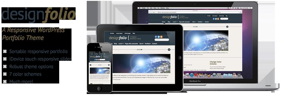 Designfolio: Responsive WordPress Portfolio Theme